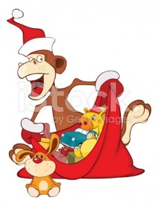 stock-illustration-79353487-illustration-of-cute-monkey-and-sack-full-of-gifts