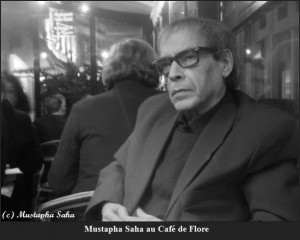 Mustapha Saha au Café de Flore. Copyryght photo Mustapha Saha. (2)