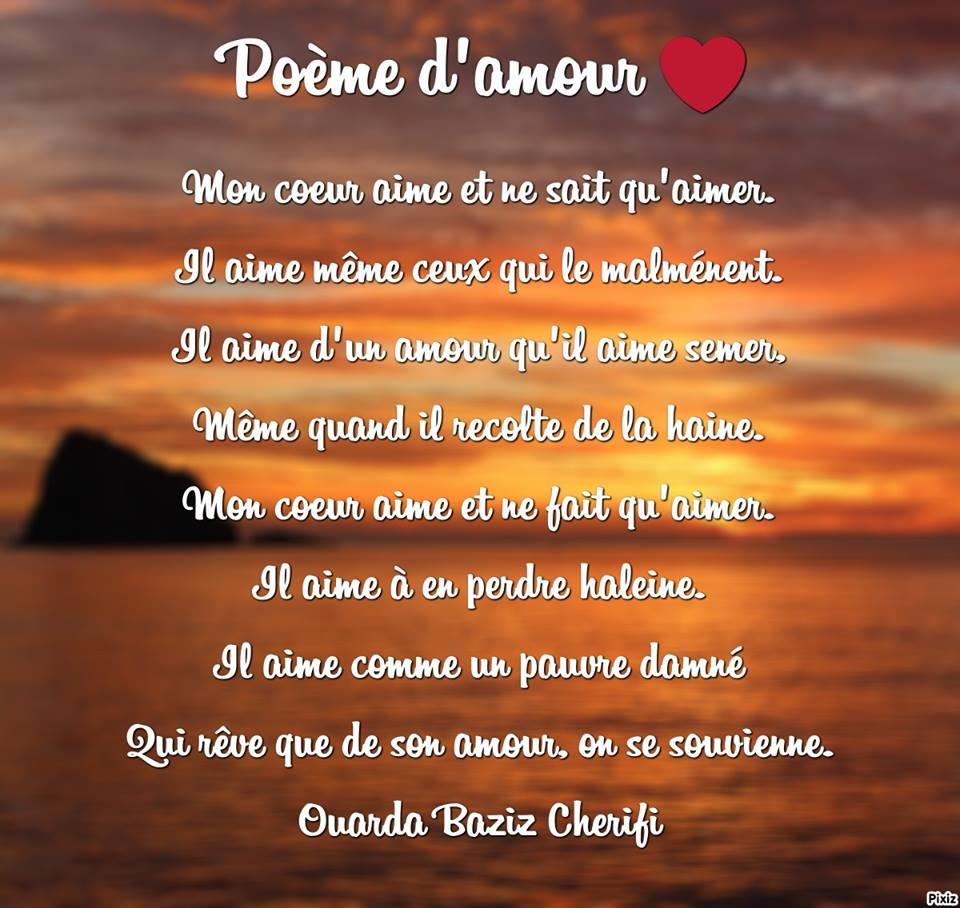 Po me d 39 amour par ouarda baziz ch rifi po tesse - Poeme d amour a imprimer ...